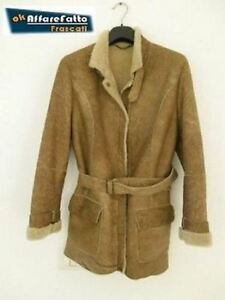 Tg Giaccone 42 Shearling 3 Donna 4 Italy Cappotto Original 1n06P64