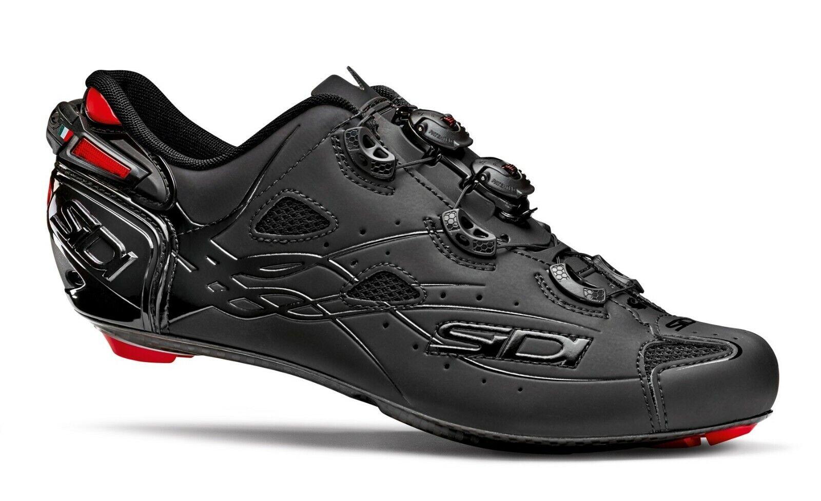 Nuevos Zapatos De Ciclismo Sidi tiro Limitada, Negro Mate total, EU40-45
