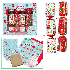 6-Pack-Novelty-Game-Christmas-Crackers-Picture-Lotto