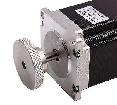 Nema 23 Stepper Motor 6.35mm Bore Handwheel Hand Carved CNC Engraving Accessory