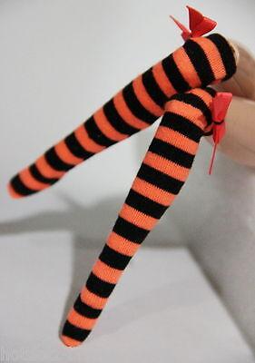 Custom Stockings For Blythe/Pullip/Obitsu/Lalaloopsy/Monster High -BS210,OG & BK