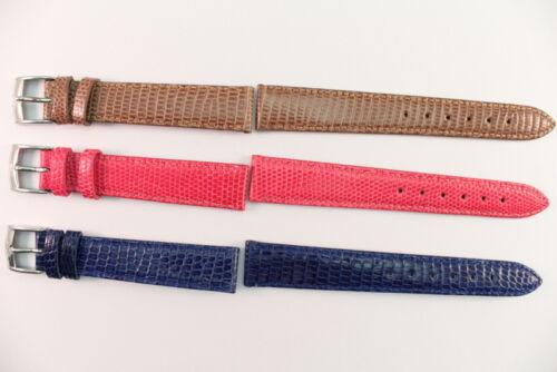 LORENZ Uhrenarmband 16mm Echtes Lizardleder Pink Blau Braun Länge : m  Angebot