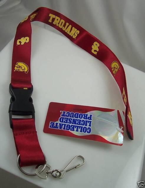 SC Trojans Lanyard keychain badge ID holder