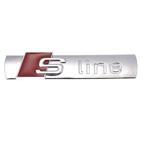 3D S line SLine GriIll Sport Emblem Badge Body Decals for Audi A3 A4 B6 B8 B5 B7