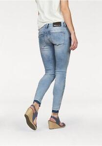 Carol Blu Alla Destroyed Pantaloni Aderenti Moda Nuovo Jeans Donna PkO80wn