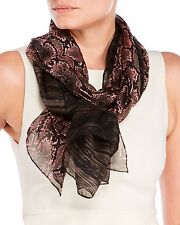 NWT Tahari Python Split Printed Silk Scarf Oblong Scarf Pink MSRP: $98