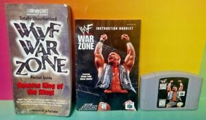 WWF-War-Zone-Game-Guide-Manual-Authentic-Nintendo-64-Rare-Game-N64-Tested