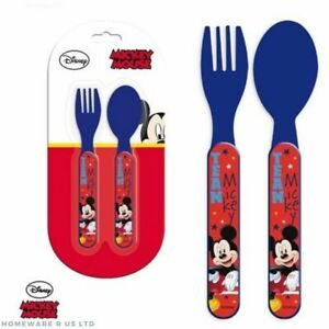 FORKS SPOONS BOYS CHILDRENS PJ MASKS CUTLERY SET PLASTIC DINNER PLATES 13.5 CM