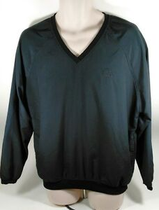 Ashworth-Black-V-Neck-Golf-Windshirt-Large-Made-in-USA