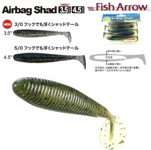 "Fish Arrow Floating Soft Jerk Bait Air Bag Shad 3.5"""