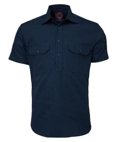 Hard-Wearing Australian Closed Front Short Sleeve Shirts
