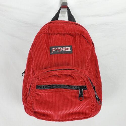 Jansport Half Pint Backpack Red Corduroy