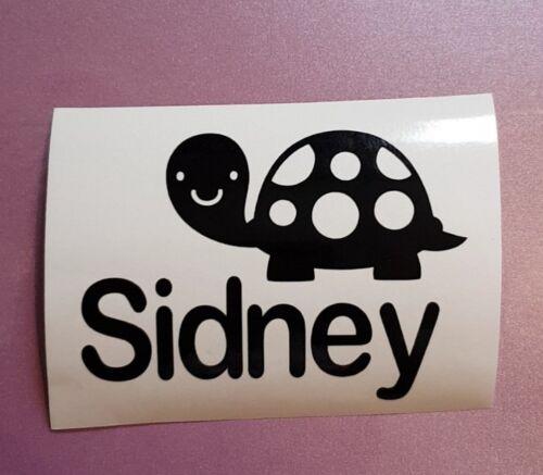 Personalised Pet Tortoise Name Vinyl Sticker for Glass Tank Terrarium Vivarium