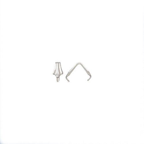 1x//10x Sterling Silver 925 Fleur De Lis Crimp Bail 8mm x 4mm Jewellery Making