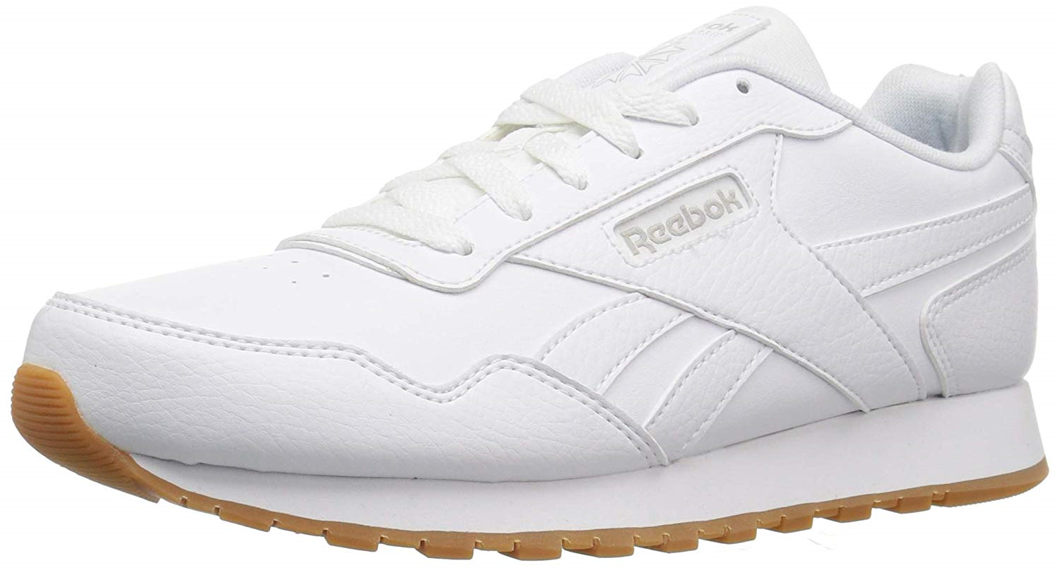Reebok Mens Classic Harman Run Sneaker, white gum, 8.5 M US