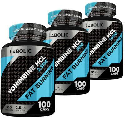 Labolic Yohimb HCL 2.5 mg / 5 mg / 10 mg 100 Caps Fat Burner ...