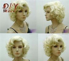 Marilyn Monroe Wig Cosplay Short Blond Curly StyleHair Full Wigs Halloween New
