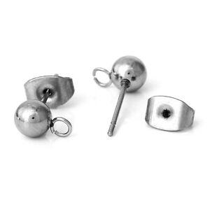 20-PCs-Stainless-Steel-Ear-Post-Stud-Earrings-Findings-Ball-Earring-Making-Acces