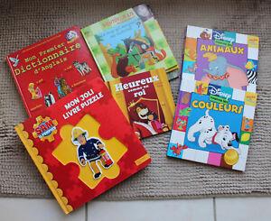Details Sur Jeux Educatif Lot Livre Enfant Disney Hachette Sam Le Pompier Puzzle