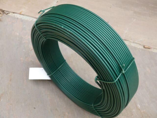 Green Line Wire 2.5mm X100m PVC Coated Straining Steel Metal 15gauge ...