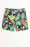Wesc Tropical Mens Dark Blue Print Boardshorts