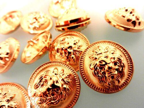 Manteau Boutons Boutons Vestes Boutons Touches. Tête de Lion .10 st Or Lion Buttons