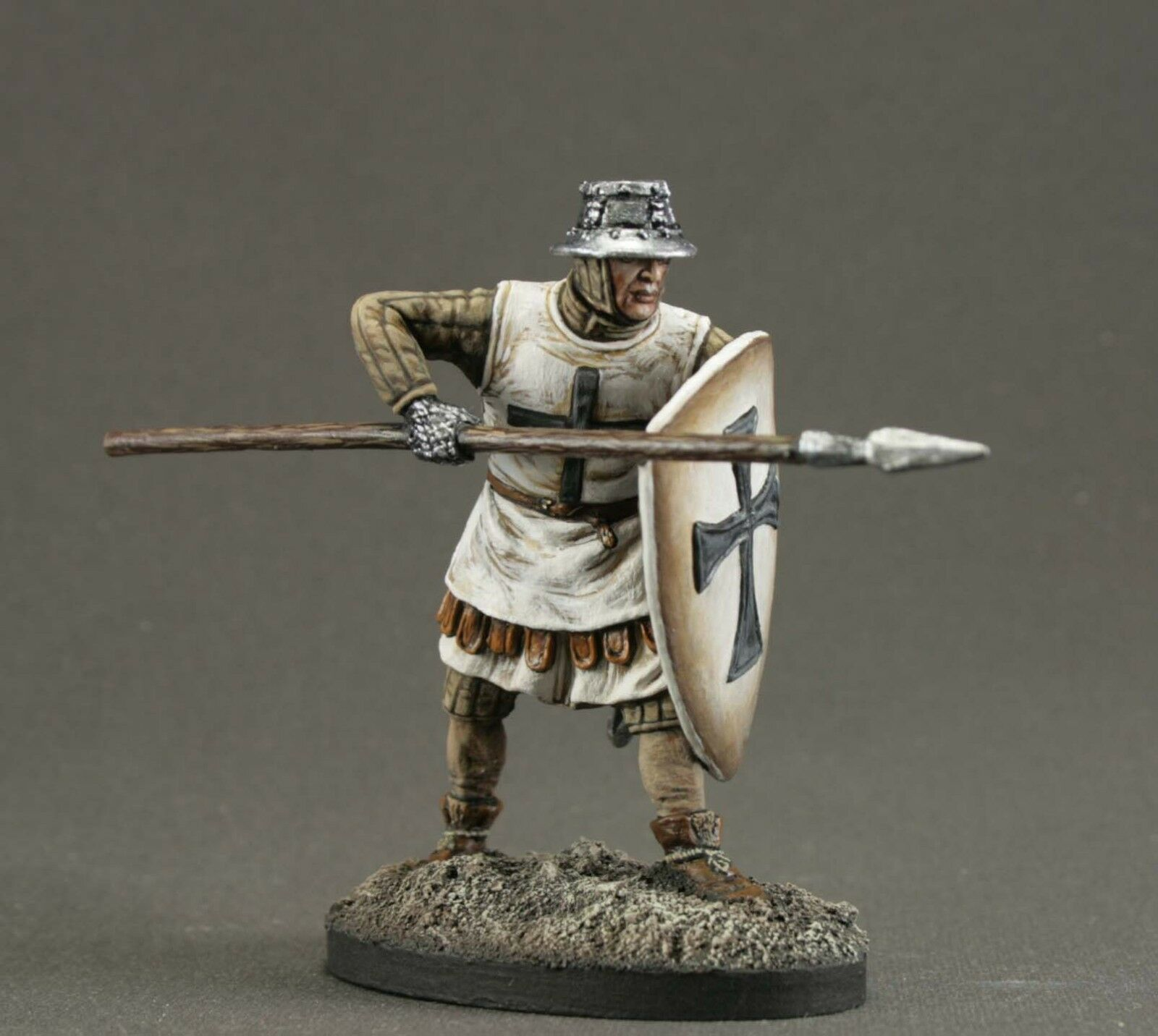 Painted Toy tin soldiers 54 mm.ELITE.Knight of the Teutonic Order, 13th century.