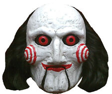 Halloween LifeSize Costume SAW BILLY PUPPET LATEX DELUXE MASK Haunted House NEW