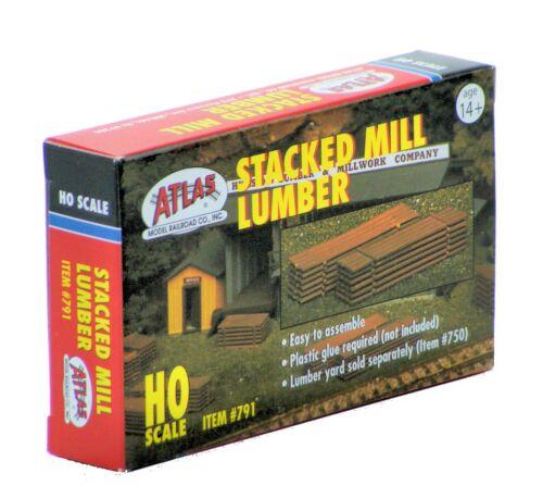 Atlas HO Scale Scenery Kit Stacked Mill Lumber
