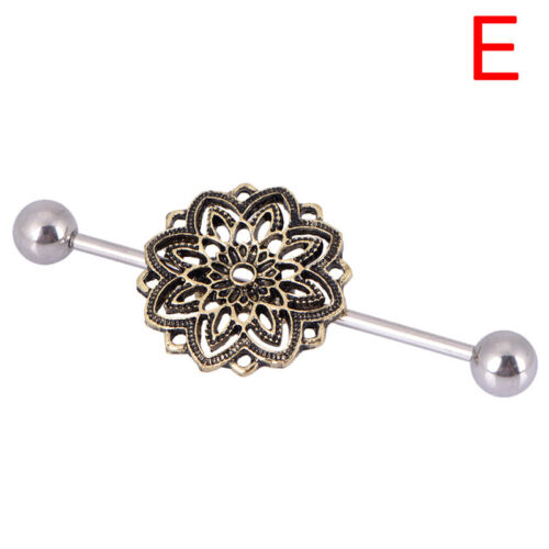 Women Surgicals Steel Industrial Bar Scaffold Ears Barbells RingPiercing Jewelry