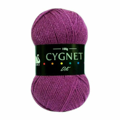 CYGNET DK WOOL DOUBLE KNITTING ACRYLIC CROCHET YARN 100g Balls 12 Colours