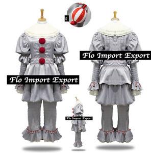 Dettagli su Simile Pagliaccio IT Vestito Carnevale Cosplay Simil IT King Costume ITCOSP01