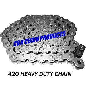 BAJA MINI BIKE CHAIN 420 X 42 LINKS MB165 MB200 FRONT JACK CHAIN PART# 165-050