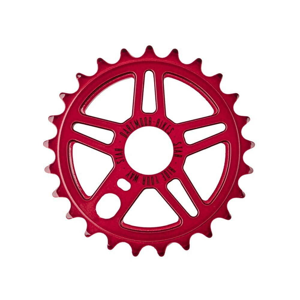 DARTMOOR Star chainring   Red 25T