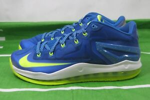 a6f4af3e47faa Nike Air Max Lebron Xi Low Sprite Hyper Cobalt Volt Blue 642849 471 ...