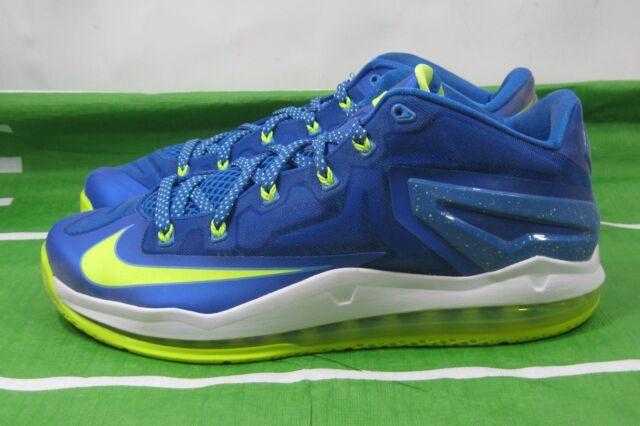 new concept 76d22 07090 Nike Air Max Lebron Xi Low Sprite Hyper Cobalt Volt Blue 642849 471 Size  11.5