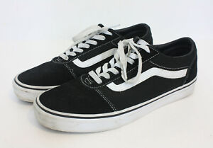 Details about Vans Old Skool Black And White Low Top Skate Shoes Lace Up Mens 9 EU 42