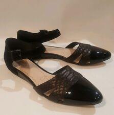 8f0fc3c9e6c9aa Clarks Coral Sunrise Ladies Black Combi Snake Leather Suede Shoes size UK 4.5  D
