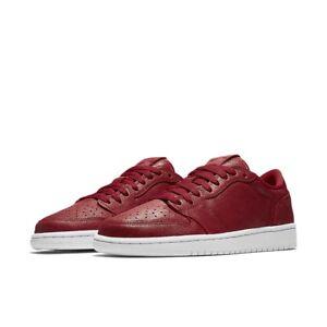 f055586627d Women's Air Jordan 1 Low No Swoosh Gym Red / AH7232-623 / W NK Retro ...