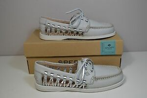 NIB SPERRY TOP TOP SPERRY SIDER A O HAVEN LEATHER LIGHT GRAY BOAT Schuhe SZ 5 ... b8d745