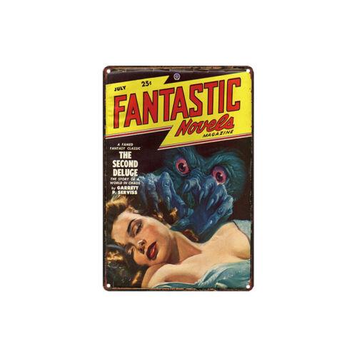 Metal Tin Sign fantastic novels  Decor Bar Pub Home Vintage Retro Poster