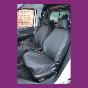 Heavy Duty Black Waterproof Car Seat Covers 2 x Fronts VAUXHALL COMBO VAN