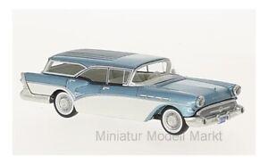 60016-Neo-buick-century-caballero-Estate-Wagon-metalico-azul-1957-1-64