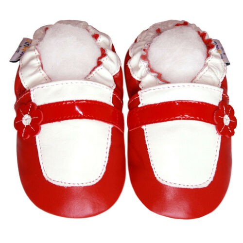 Soft Sole Leather Baby Infant Kids Children Girl Gift Maryjane Red Shoes 12-18M