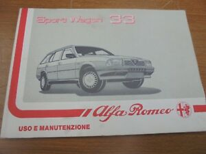 ALFA-ROMEO-ALFA-33-SPORT-WAGON-FOLLETO-DE-USO-Y-MANTENIMIENTO-ORIGINAL