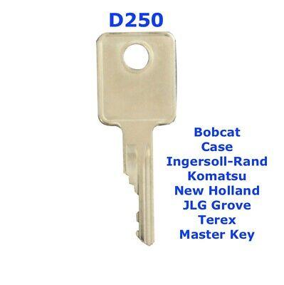 Digger Case//Bobcat // D250 /£3.95 Ignition Master Plant Key for Construction//Agricultural Machinery Forklift Dozer Telehandler Plant Tools Dumper Truck Roller Excavator Tractor