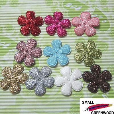 "(U Pick) Wholesale 50-500 Pcs. 1-3/8"" Padded Shiny Spring Flower Appliques F3120"