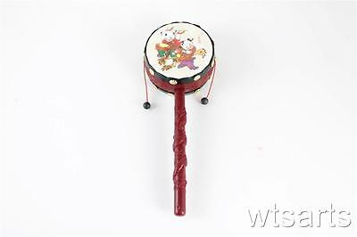 Chinese New Year Plastic Hand Drum, Rattle, Celebration Traditional Toy Rattle