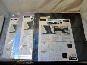 Leuchtturm-MAXIMUM-Huellen-5er-Packung-Schwarz-Glasklar-oder-Weiss-zur-Auswahl