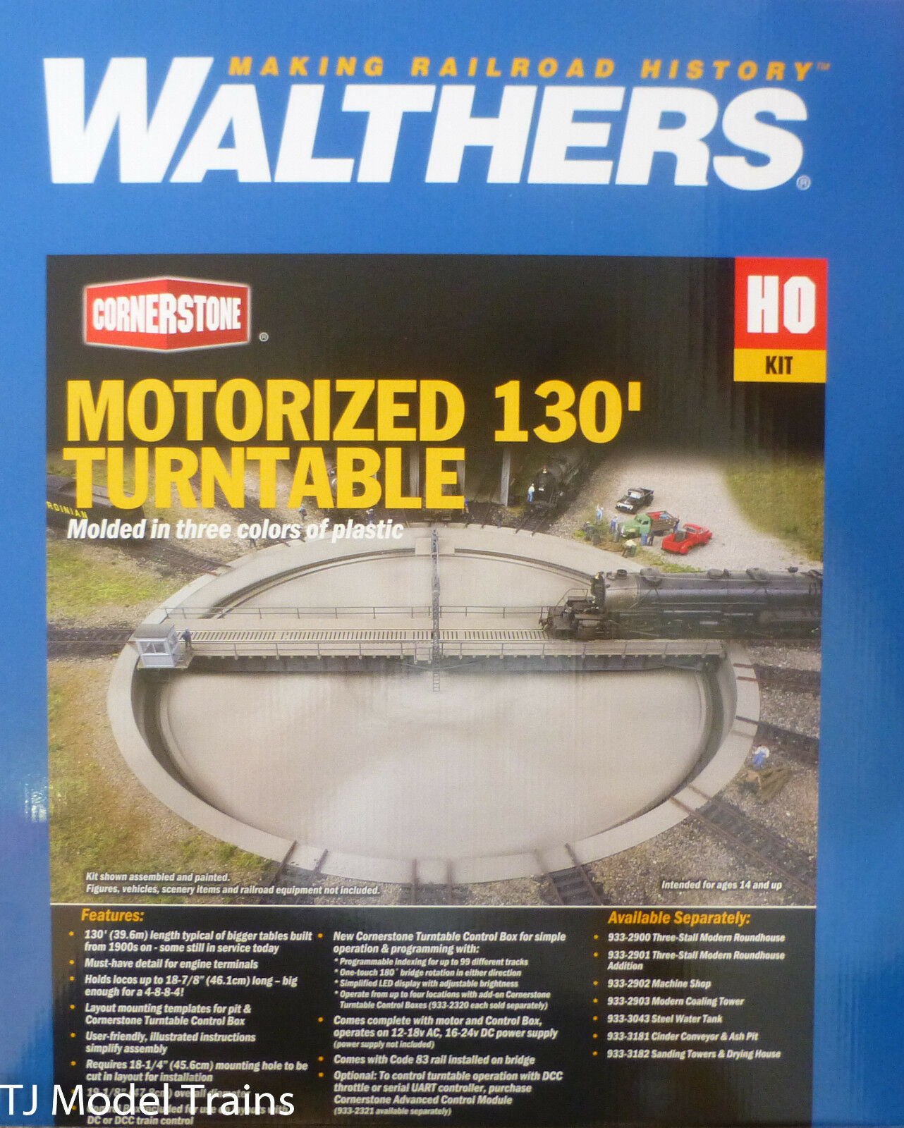 Walthers HO  933-2859 Motorized 130' Turntable -- Assembled - 19-1/8  47.8cm Dia